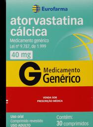 Leve 3 Pague 2 Atorvastatina Genérico Calcica Eurofarma 40Mg 30