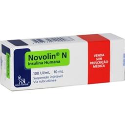 Insulina Novolin Nph 100Ui / mL Nordisk 1 Ampola
