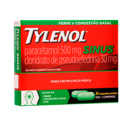 Tylenol Sinus 24 Comprimidos