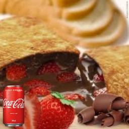 1 Pastel docê , escolha o sabor + 1 coca cola lata 350ml