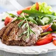 Salada Light Bife Grelhado.