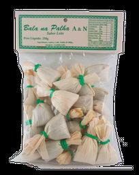 Bala A&N Na Palha Sabor Leite 250 g