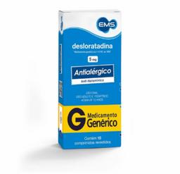 Desloratadina 5 Mg EMS 10 Comprimidos