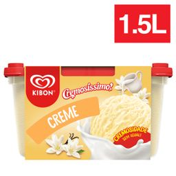 Sorvete Sabor Creme 1,5 L Kibon