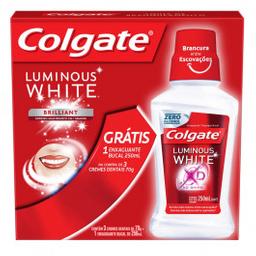 Creme Dental Colgate Enxague 250 mL Com 3 Und