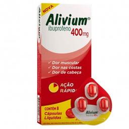 Alivium 400 mg Hypermarcas Líquidas 8 Cápsulas