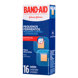 Curativos Band Aid Pequenos Ferimentos 16 Und