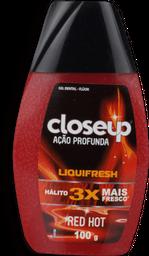 Creme Dental Close Up Líquido Fresh Red Hot 100 g