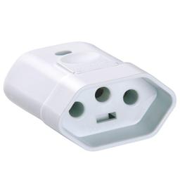 Plug Femea 3P 20A 250V Branco Tramontina - Cód.3677370