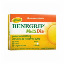 Benegrip Multi Dia 20 Comprimidos