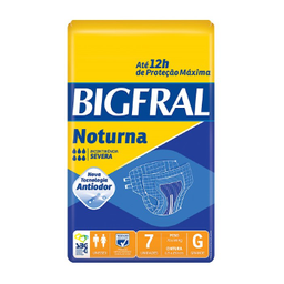 Fralda Bigfral Noturna Adulto G Com 7 Und