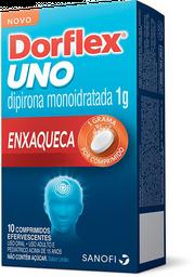 Analgésico Dorflex Uno Enxaqueca 1g 10 Comprimidos Efervescentes