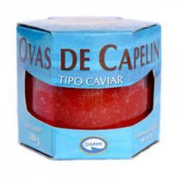 Ovas De Capelin Tipo Caviar Vermelho 100 g - Cód. 11175
