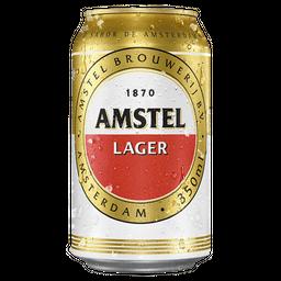Cerveja Amstel Lager Premium Lata 350 mL