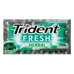Chiclete Trident Fresh Herbal 5 Und 8 g
