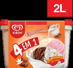 Sorvete Kibon Cremosissimo 4 Em 1 2 L