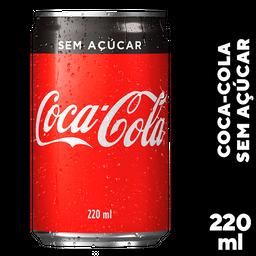 Refrigerante Coca-Cola Zero Mini 220 mL Lata 12 Und