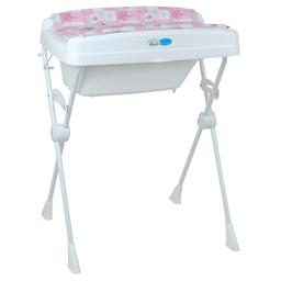 Banheira Infantil Com Trocador Peixinhos Branca E Rosa Burigotto