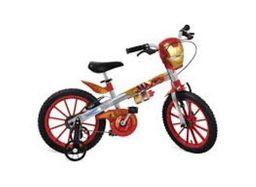Bicicleta Infantil Aro 16 Bandeirante Homem De Ferro Verm Prata