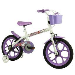 Bicicleta Track Bike Pinky Branca Aro 16