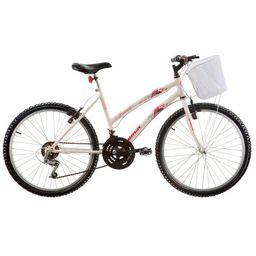Bicicleta Track Bikes Aro 24 18 Marchas Parati Juvenil Rs Branca