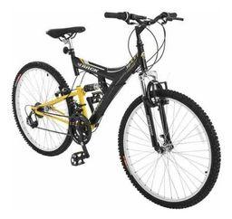 Bicicleta Track Bikes Aro 26 18 Marchas Mountain Bike Pt Amarela