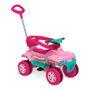 Carrinho De Passeio E Pedal Superquad Smart Bandeirante Rosa 475