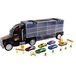 Conjunto Brinquedo Caminhão Transporte E 6 Carros Ty90604