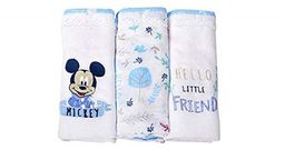 Fralda 70X65 Cm 3 Mickey 3928 Azul Branco