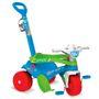 Triciclo Infantil Com Empurrador Bandeirante Adventure Azul 841