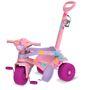 Triciclo Infantil Com Empurrador Bandeirante Gatinha Rosa 842
