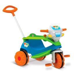 Triciclo Infantil Com Empurrador Bandeirante Velobaby Azul 206