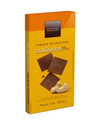Tablete ao Leite Castanha-de-Caju - 100g