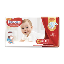 Fralda Huggies M Supreme Care Mega 40 Und