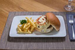 Hambúrguer Cheddar e Cebola Caramelizada