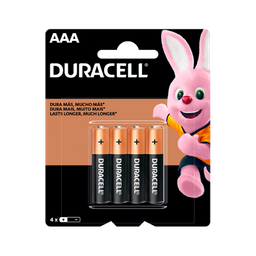 Pilhas Alcalinas AAA Palito Duracell 4 Und