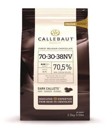 Chocolate Callebaut Amargo 70,5% Cacau Callebaut 2,5 Kg