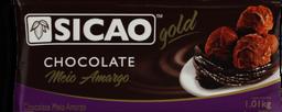 Chocolate Sicao Meio Amargo Barra 1,05 Kg