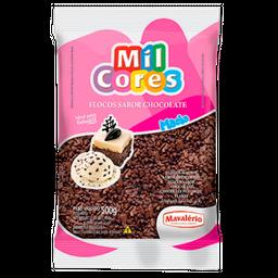 Granulado Flocos Macio De Chocolate Mil Cores 500 g