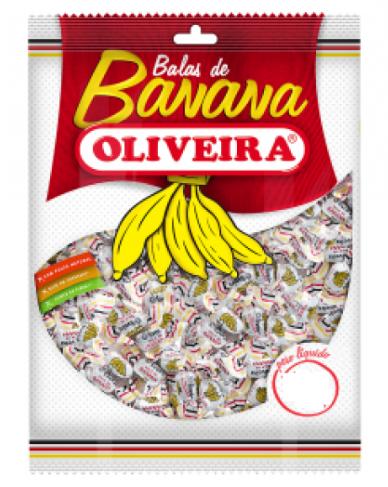 Bala De Banana Oliveira 600 g