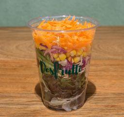 Salada no Copo - Frango Desfiado