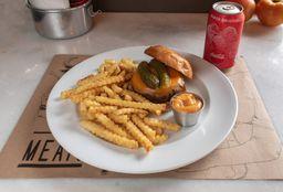 Cheese Burger + Batata Crinckle + Refrigerante Lata