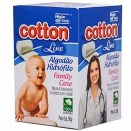 Algodao Hidrofilo Cotton Line Family Care 50 g