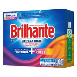 Lava Roupa Pó Brilhante Limpeza Total 800 g