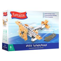 Blocos De Montar Avião Thunderbird Funtastik