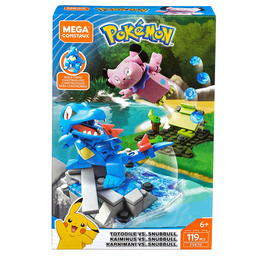 Blocos De Montar Mega Construx Playset De Batalha Pokémon Totodi