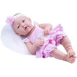 Boneca Baby Ninos Morena Vestido Rosa Cotiplás