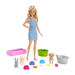 Boneca Barbie Barbie Banho Dos Cachorrinhos Mattel
