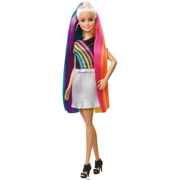 Boneca Barbie Lindos Penteados Cabelo Arco-íRis Mattel