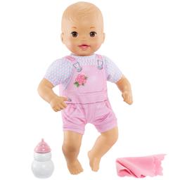 Boneca Bebê Little Mommy Recém Nascido Macacão Listrado Mattel
